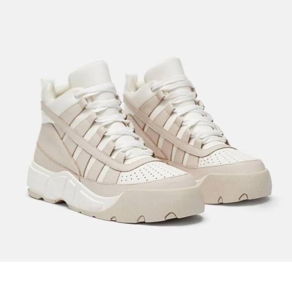 Zara Shoes   High Top Sneakers   Poshmark